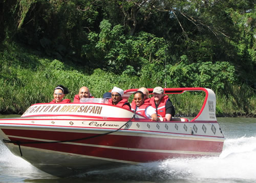 Jet boat ride up the sigatoka river in the coral coast
